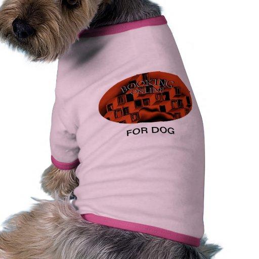 Reservación en línea camiseta de perrito