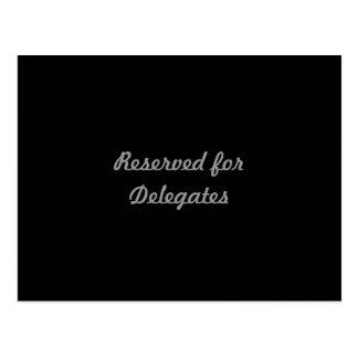 Reservado para los delegados tarjetas postales