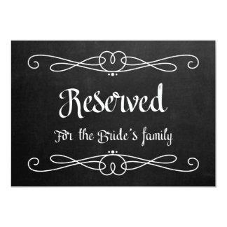"""""""Reservado para muestra del boda de la familia de Invitación 5"""" X 7"""""""