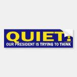 Reservado para nuestro presidente (pegatina para e pegatina de parachoque