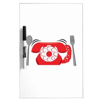 Reservas de cena tablero blanco