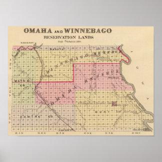 Reservas de Omaha y del Winnebago en Nebraska Impresiones