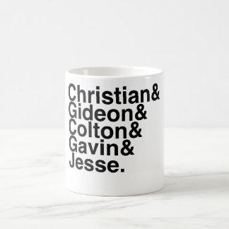 Reserve al novio Gideon cristiano, Colton, Gavin… Taza Básica Blanca