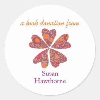Reserve al pegatina de la donación - corazones