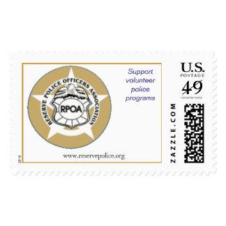 Reserve Police Officers Association Custom stamps