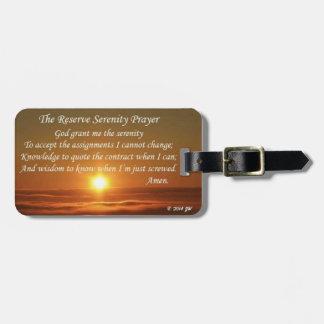 Reserve Serenity Prayer Luggage Tag