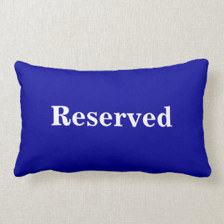 Reserved Cushion / Pillow in Navy Blue