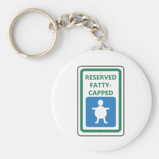 Reserved Fatty-Capped Keychain