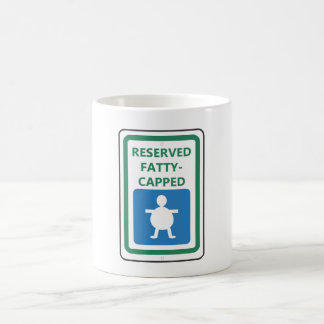 Reserved Fatty-Capped Classic White Coffee Mug