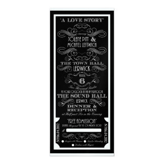 Reserved for Michael Leftwich 4x9.25 Paper Invitation Card