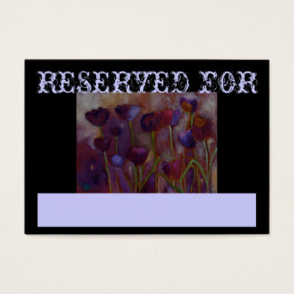 Reserved For - Placement Cards