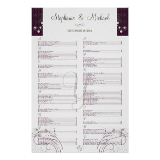 ***RESERVED*** for Stephanie+Michael Poster