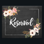 "Reserved Rustic Floral Chalkboard Wedding Sign<br><div class=""desc"">• • • • Visit http://bit.ly/2rwj7Il for the complete Penelope suite.</div>"