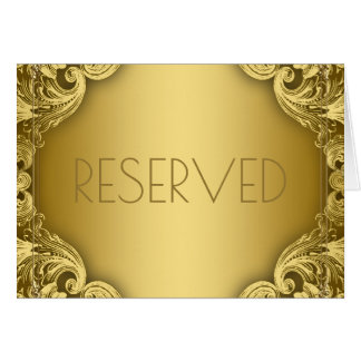 Reserved Seating Cards Elegant Gold