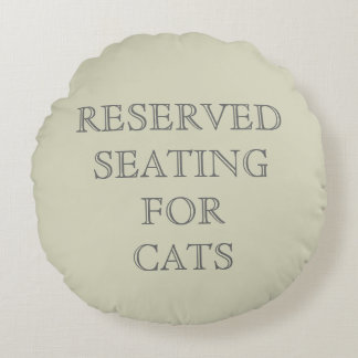 Reserved Seating for Cats Pillow - Beige