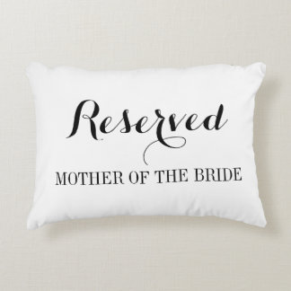 Reserved seating pillow cushions for wedding party