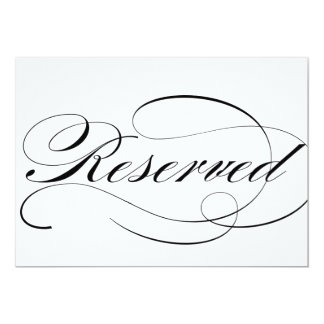 Wedding reception invitations 9200 wedding reception for Reserved seating signs template
