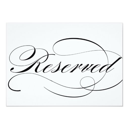 reserved seating sign for wedding reception 5x7 paper invitation card zazzle. Black Bedroom Furniture Sets. Home Design Ideas