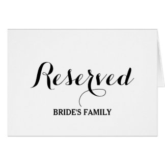 Reserved table card template pictures to pin on pinterest for Reserved seating signs template