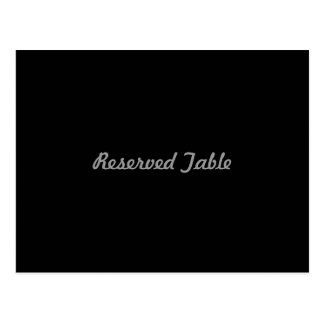 Reserved Table Postcard