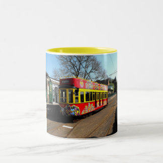 Reserved tram at Colyton station Two-Tone Coffee Mug