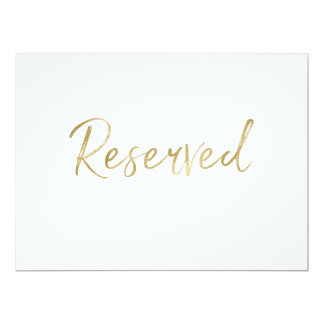 """Reserved"" Wedding Sign 