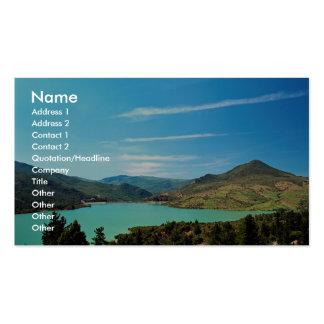 Reservoir serving Chaouen, Er Rif, Morocco Business Card Template
