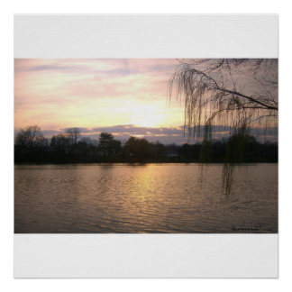 Reservoir Sunset Poster