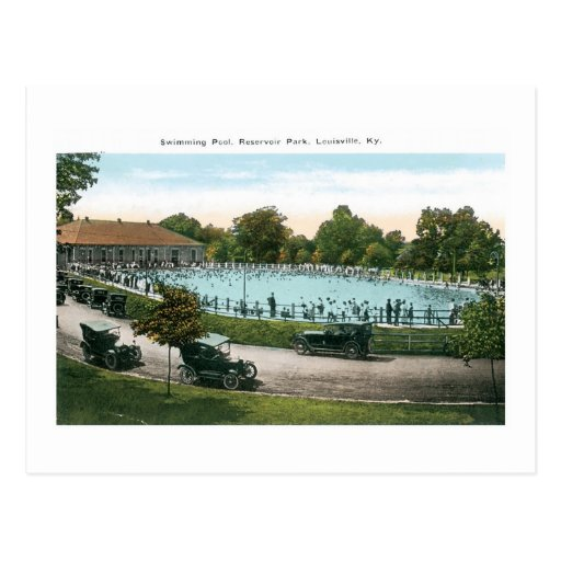 Resevoir park swimming pool louisville ky postcard zazzle for Pool design louisville ky