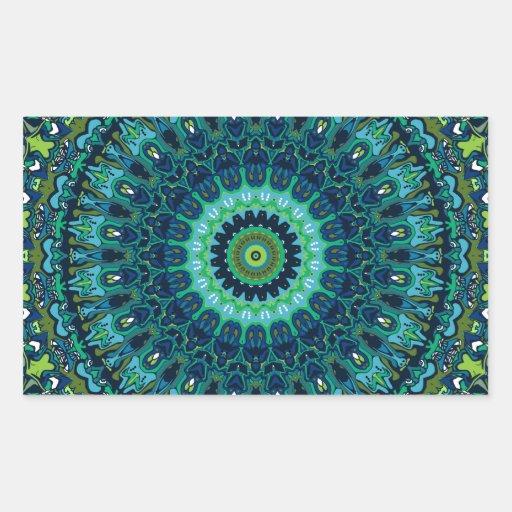 Reshma Kaleidoscope Design Rectangular Sticker
