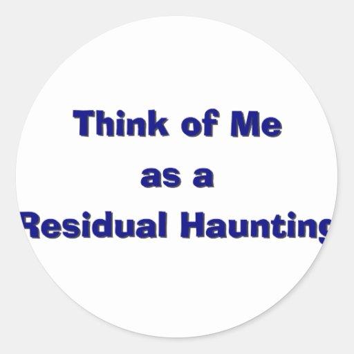 Residal Haunting Classic Round Sticker