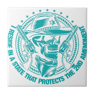 Reside In A State That Protects The 2nd Amendment Ceramic Tile