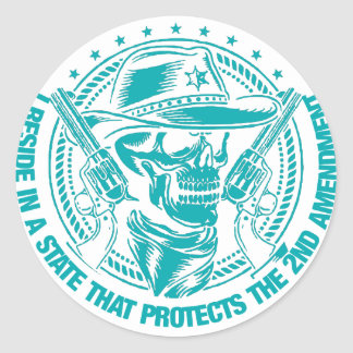 Reside In A State That Protects The 2nd Amendment Classic Round Sticker