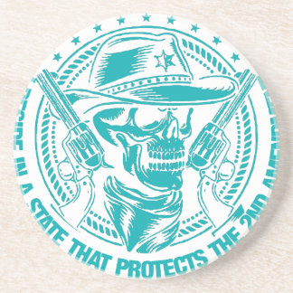 Reside In A State That Protects The 2nd Amendment Drink Coaster