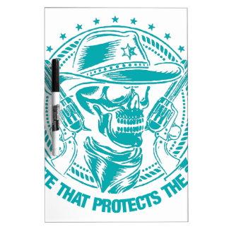 Reside In A State That Protects The 2nd Amendment Dry-Erase Board