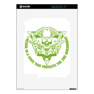 Reside In A State That Protects The 2nd Amendment iPad 2 Skins