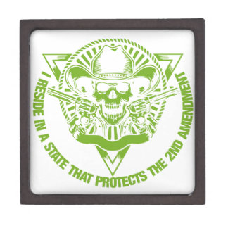 Reside In A State That Protects The 2nd Amendment Jewelry Box