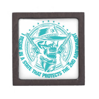 Reside In A State That Protects The 2nd Amendment Keepsake Box