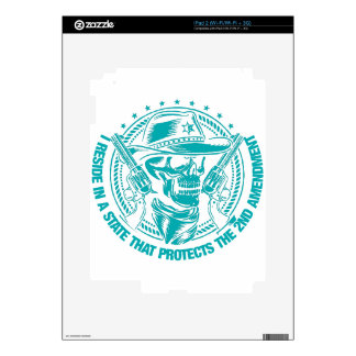 Reside In A State That Protects The 2nd Amendment Skins For iPad 2