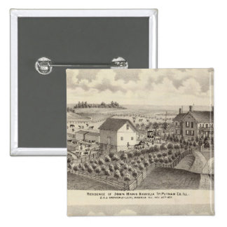 Residence and farm residence in Magnolia Tp Pinback Button