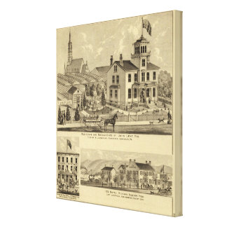 Residence and Greenhouse of John Lent Sewickley Canvas Print