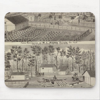 Residence and lumber mills and yards mouse pad