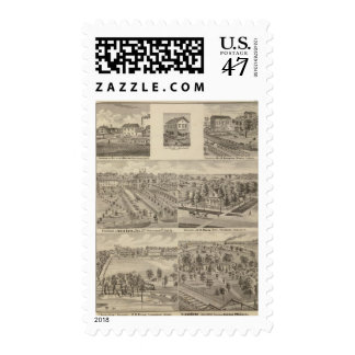 Residence and mill of L & J Keller Postage