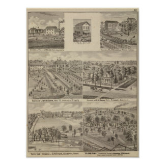 Residence and mill of L & J Keller Poster