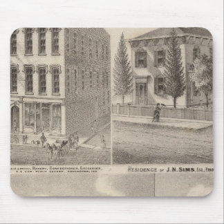 Residence and mill of Samuel Cade, Wabash Tp Mouse Pad
