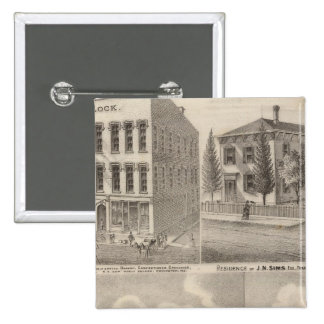 Residence and mill of Samuel Cade, Wabash Tp Pinback Button
