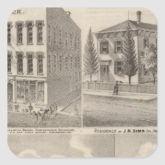Residence and mill of Samuel Cade, Wabash Tp Square Sticker
