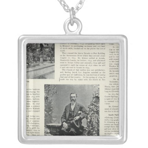 Residence and Orchard in California Necklaces