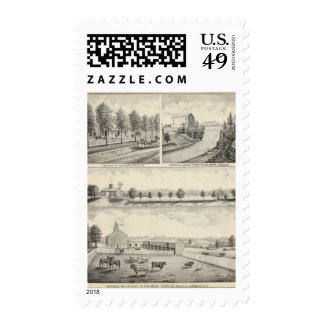 Residence and property of Mark Douglas Postage Stamps