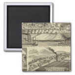 Residence and saw mill of Susan Harpold 2 Inch Square Magnet